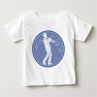 trumpet player larvae OF of notes Baby T-Shirt