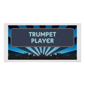 Trumpet Player Marquee Print