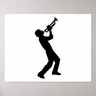 Trumpet player print