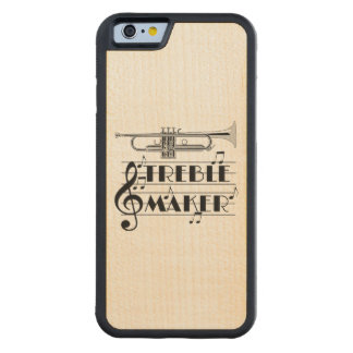 Trumpet Player Treble Maker Carved Maple iPhone 6 Bumper Case