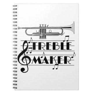 Trumpet Player Treble Maker Notebook