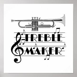 Trumpet Player Treble Maker Poster