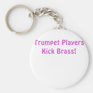 Trumpet Players Kick Brass Key Ring