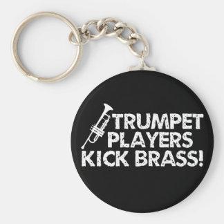Trumpet Players Kick Brass! Key Ring