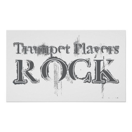 Trumpet Players Rock Poster