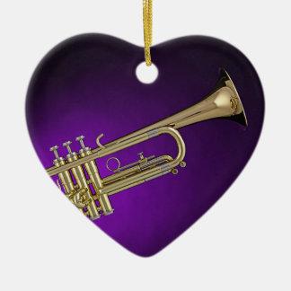 Trumpet Purple Background Ornament