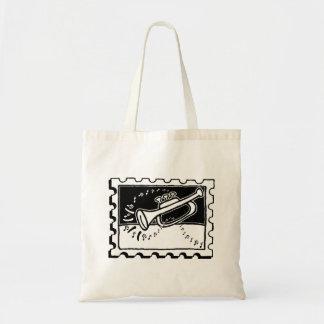 Trumpet Stamp Canvas Bag