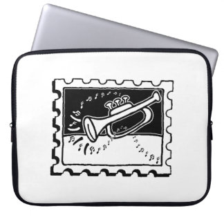 Trumpet Stamp Laptop Computer Sleeves