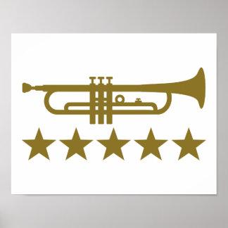 Trumpet stars poster