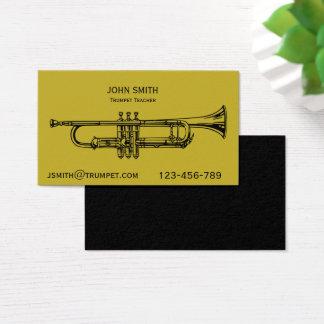 Trumpet Teacher brass instrument Business Card