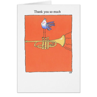 """Trumpet"" Thank You Card"