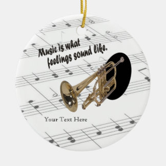 Trumpet Version #2 - What Feelings Sound Like Round Ceramic Decoration