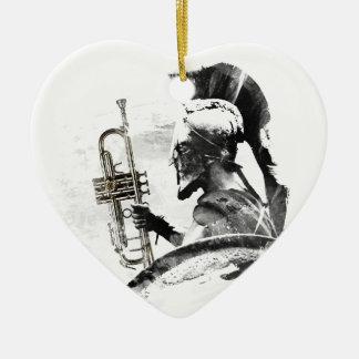 Trumpet Warrior Ceramic Ornament
