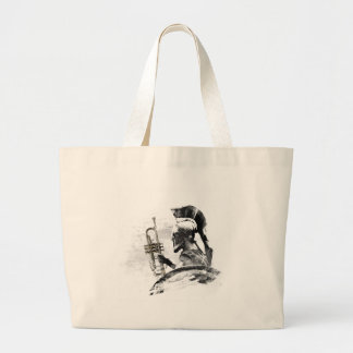Trumpet Warrior Large Tote Bag