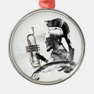 Trumpet Warrior Metal Ornament