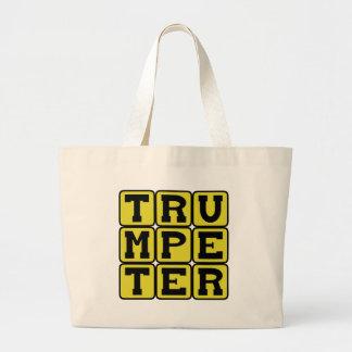 Trumpeter, Brass Instrument Musician Jumbo Tote Bag