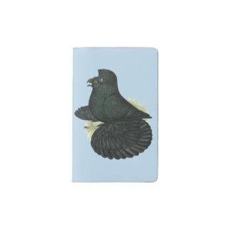 Trumpeter Pigeon Black Pocket Moleskine Notebook