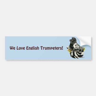 Trumpeter Pigeon Dark Splash Bumper Sticker