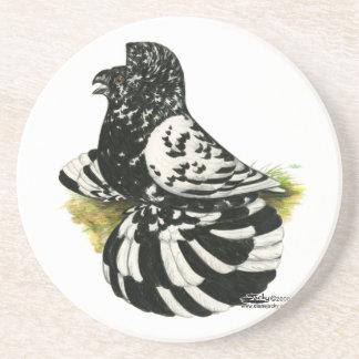 Trumpeter Pigeon Dark Splash Coaster
