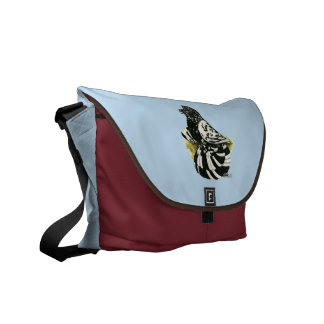 Trumpeter Pigeon Dark Splash Messenger Bags