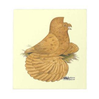 Trumpeter Pigeon Deroy Notepads