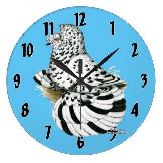 Trumpeter Pigeon Light Splash Large Clock