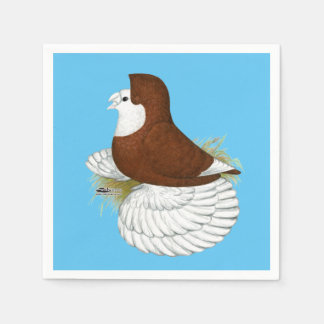Trumpeter Pigeon Red Baldhead Paper Napkins