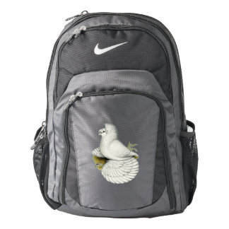 Trumpeter Pigeon White Backpack