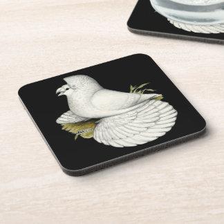 Trumpeter Pigeon White Coaster