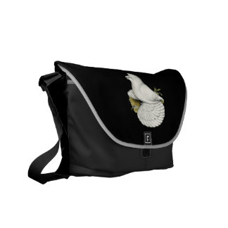 Trumpeter Pigeon White Courier Bag