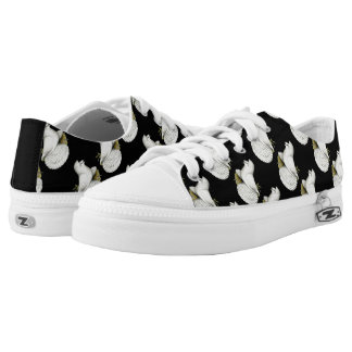 Trumpeter Pigeon White Low Tops