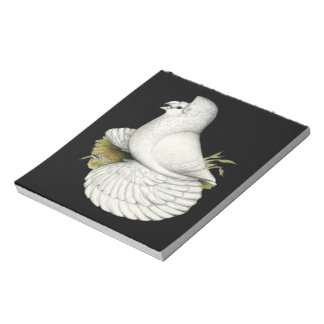 Trumpeter Pigeon White Notepad