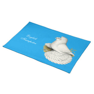 Trumpeter Pigeon White Placemat