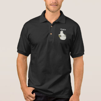 Trumpeter Pigeon White Polo Shirt
