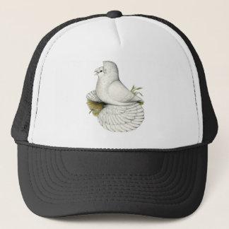 Trumpeter Pigeon White Trucker Hat