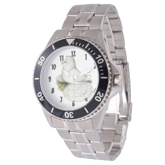 Trumpeter Pigeon White Watch