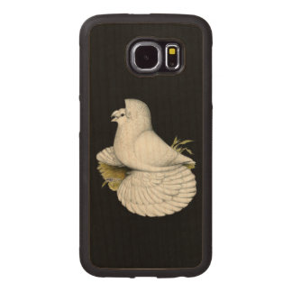 Trumpeter Pigeon White Wood Phone Case