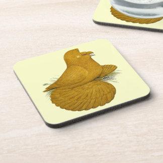 Trumpeter Pigeon Yellow Self Coaster
