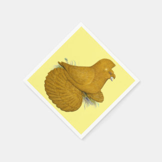 Trumpeter Pigeon Yellow Self Disposable Serviettes