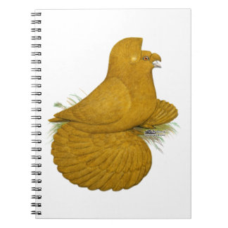 Trumpeter Pigeon Yellow Self Notebook