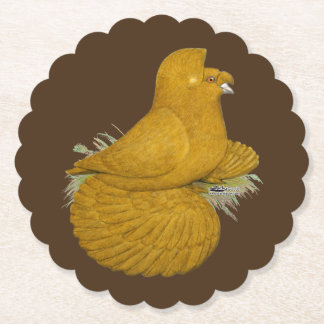 Trumpeter Pigeon Yellow Self Paper Coaster