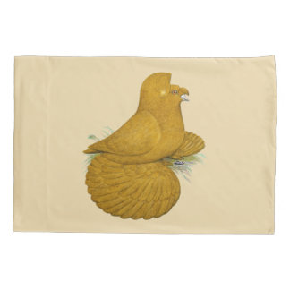 Trumpeter Pigeon Yellow Self Pillowcase