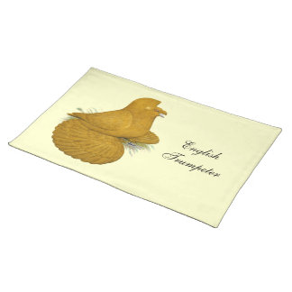 Trumpeter Pigeon Yellow Self Placemat