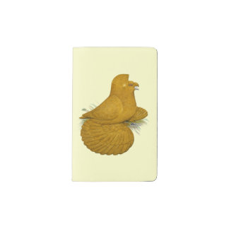 Trumpeter Pigeon Yellow Self Pocket Moleskine Notebook