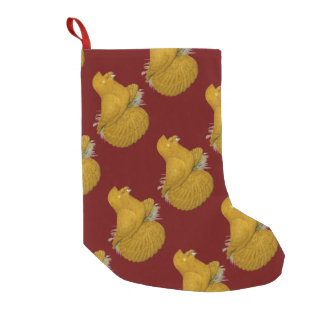 Trumpeter Pigeon Yellow Self Small Christmas Stocking