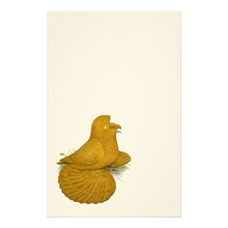 Trumpeter Pigeon Yellow Self Stationery