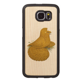 Trumpeter Pigeon Yellow Self Wood Phone Case