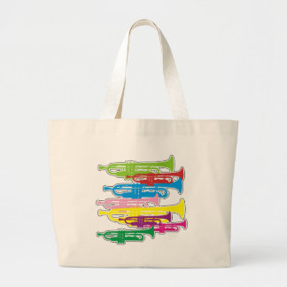 Trumpets Colors Tote Bags