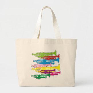 Trumpets Colors Jumbo Tote Bag