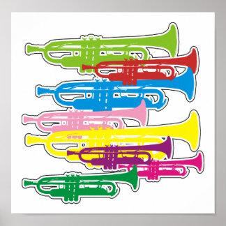 Trumpets Colors Print